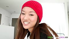 Asiatisk teen big cock