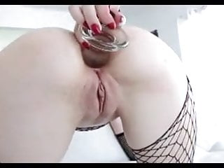 Horny White Slut Gets Her Ass Reamed Wide Open