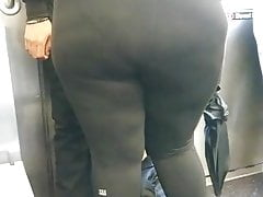 Latina Teen Bbw booty in Spandex