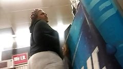 Chubby ass standing at the counter