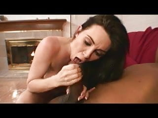 Preview 6 of Hot brunette loves to ride a big black cock