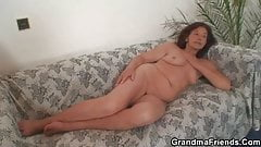 Two horny dudes fuck old bitch