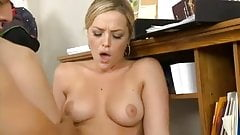 hot office blonde