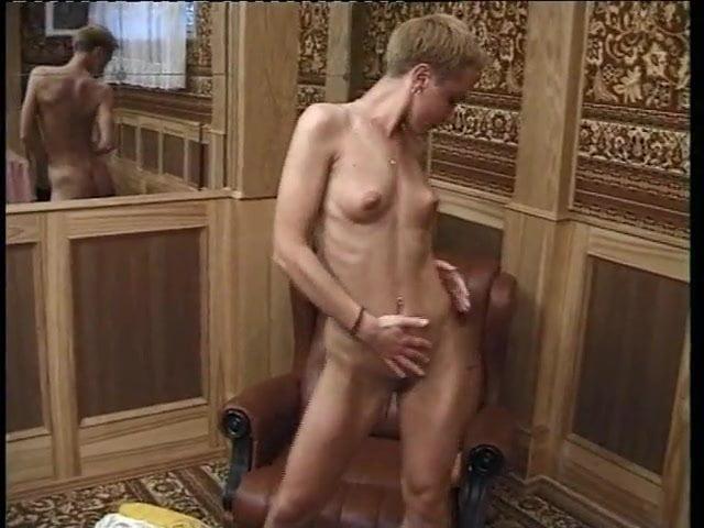 Virgin anal beads home video