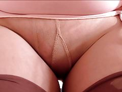Pencil Skirt With Tan Stockings
