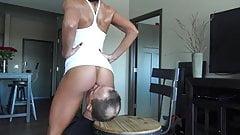 Slave worships ass