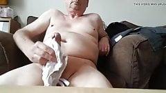 Huge cumshot  on panties