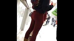 Voyeur Extended 20 - Red Leggings Teenie