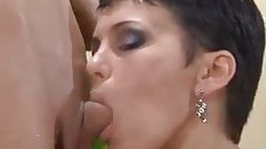 MILF short hair Brunette sexy Underware