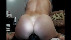 Handsfree Orgasm riding my big dildo