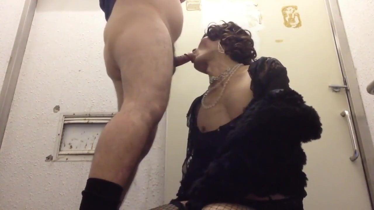 Mature whore crossdresser hot blowjob 2