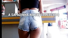 #Bunda  Sexy Teen Supermarket - SAFADINHA NO SUPERMERCADO