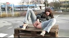Perverse German Girl Fucking Outdoor