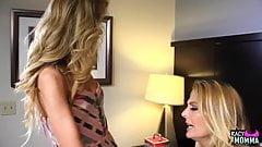 Stepmom seduces stepdaughter after argument