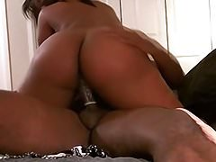 Thick ebony amateur home fuck video