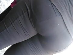 It's some booty meat in them tight black pants's Thumb