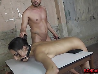 Download video bokep Miky Love tied to a table and hardcore fucked from behind Mp4 terbaru