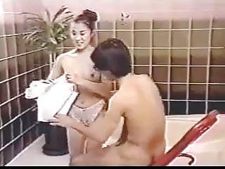 Bathhouse scene from vintage Asian Film