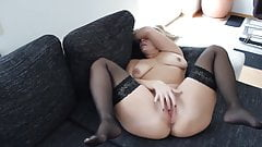 Mom Masturbates on Couch