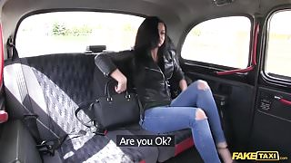 Fake Taxi brunette likes to workout on cock
