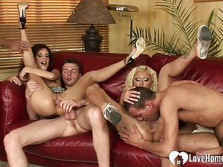 Group fucking act with lovely sex amateur babes