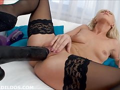 Brutal dildos gaping beauty