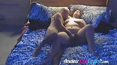BBW getting licked