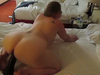 Horny Chubby PAWG Anita Riding A BBC Dildo