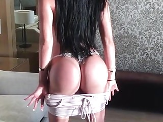Anastasia Doll topless shows off her fake butt and boobs