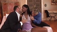 Hardcore Interracial Threesome
