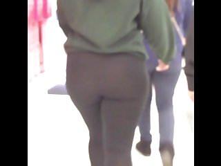 AMAZING THICK BOOTY!!! See thru leggings