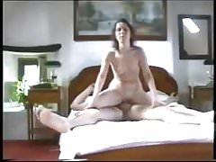 Wife straddles my cock and eats cum after