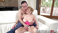 Hot granny banged balls deep by much younger guy