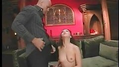 Anal Asian in fishnet gets coochie fucked and her face creamed