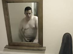 Chub Cub Jacob Jacks Off in the Bathroom & Eats His Own Load