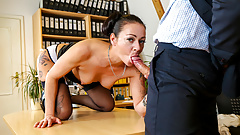LETSDOEIT - German Office Fuck With Mareen Deluxe & Her Boss