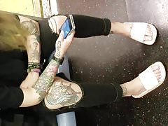 Candid tattooed lady feet 2