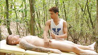 Horny Gay Massage Eating Ass