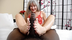 Lady in Red Foot Job