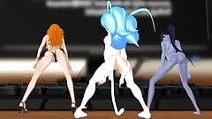 MMD Felicia, Nami, and Widowmaker Sexy Twerk!