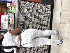 Transparent tights ebony teen wearing teal color panties