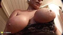 Perfect mature mother dreaming of young cock