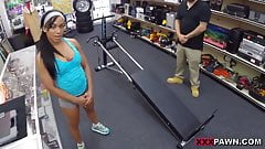 Muscular Chick Spreads Eagle For Cash! - XXX Pawn