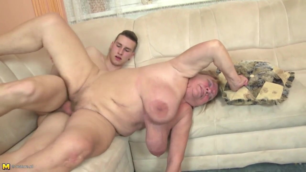 grandma fuck by young male