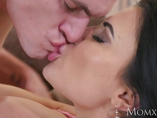 Preview 6 of MOM Big tits Milf stepmom seduces her young big dick stepson