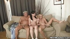 She have fun with her BF's mom and dad
