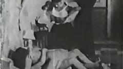ebony maid help two lesbos - circa 30s