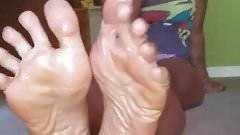 Pretty oily soles up close