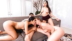 LETSDOEIT - Scam 4Some Sex With Gina Valentina & Karlee Grey