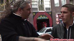 Stunning dutch hooker cumsprayed by tourist
